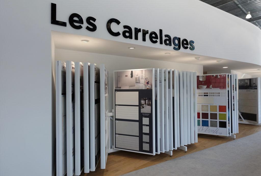 Carrelages & sanitaires - présentoir sol et mur