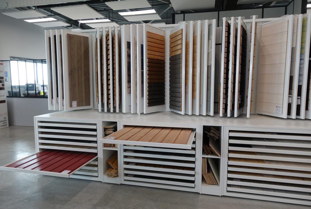 Négoce matériaux - Présentoir sol & mur