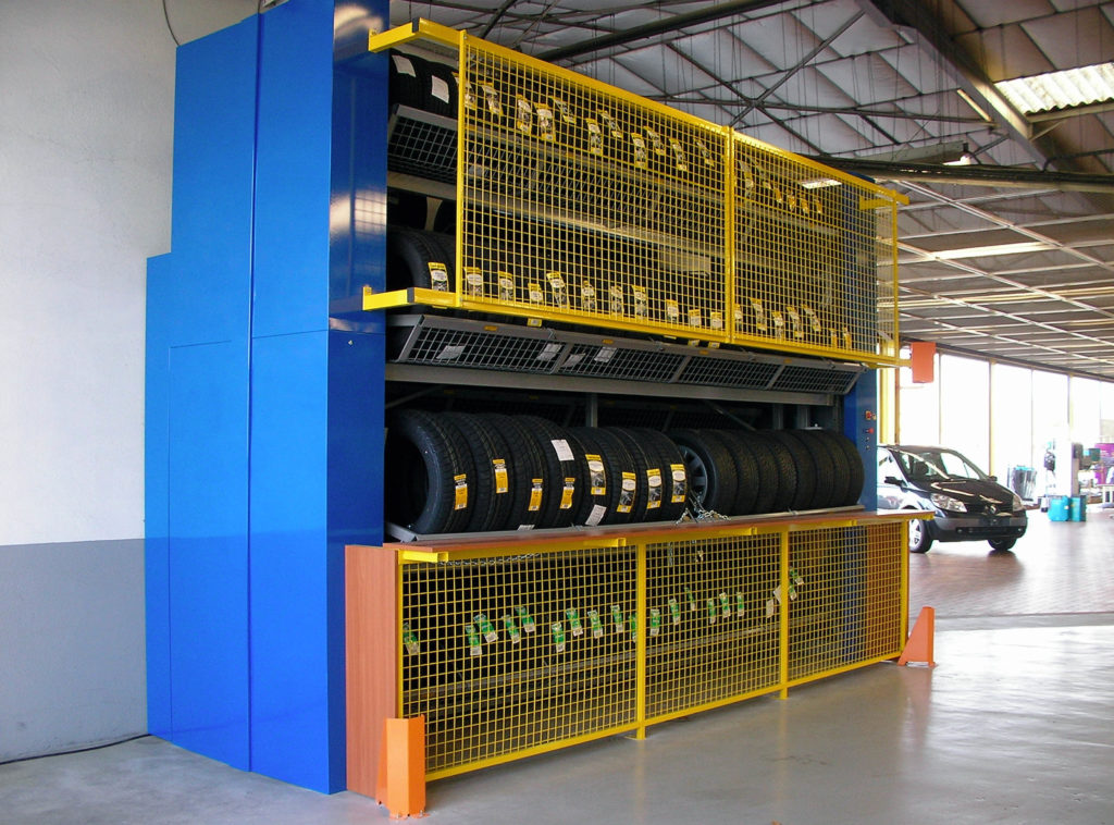 Solutions logistiques - stockeurs rotatifs