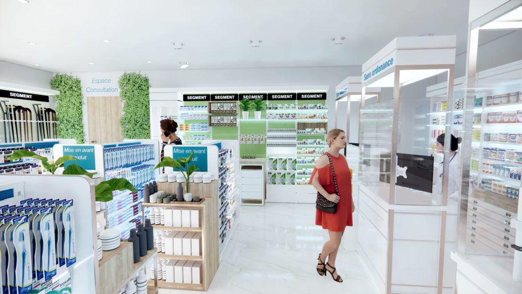 Architecture retail - agencement pharmacie